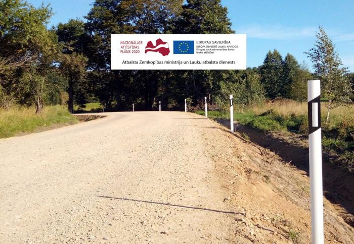 Rucavas novada pašvaldības grants ceļu pārbūve