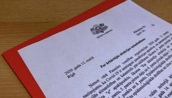 Latvijas valdības paziņojums