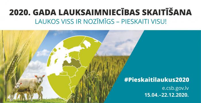Latvijā sākusies lauksaimniecības skaitīšana